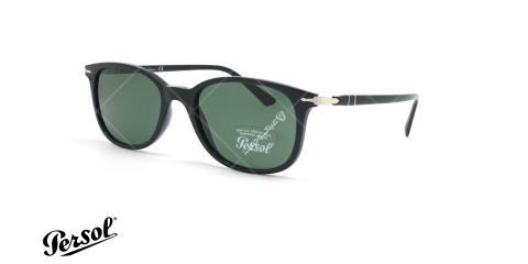 عینک آفتابی بیضی پرسول - Persol Polarized PO3183S - مشکی - عکاسی وحدت - زاویه سه رخ