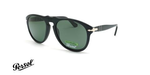 عینک آفتابی پلاریزه پرسول - Persol PO649 - مشکی - عکاسی وحدت - زاویه سه رخ