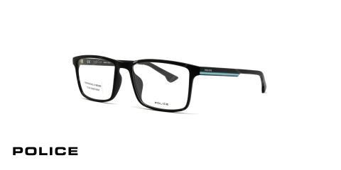 عینک طبی پلیس -  Police VPL479- فریم مشکی ابی - عکاسی وحدت - زاویه سه رخ