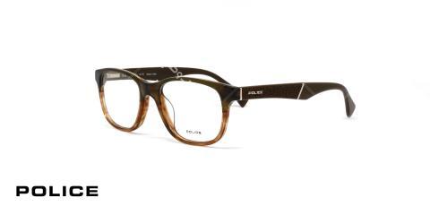 عینک طبی پلیس مدل کلوز آپ رنگ قهوه ای طیف دار - عکاسی وحدت - زاویه سه رخ