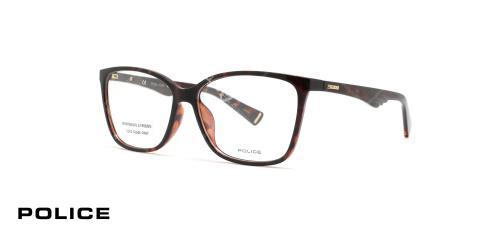عینک طبی مربعی شکل قهوه ای هاوانا پلیس VPL504N - عکاسی وحدت - زاویه سه رخ