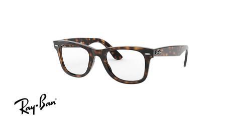 عینک طبی ویفرر ری بن - رنگ قهوه ای هاوانا - ray ban wayferer ease - زاویه سه رخ