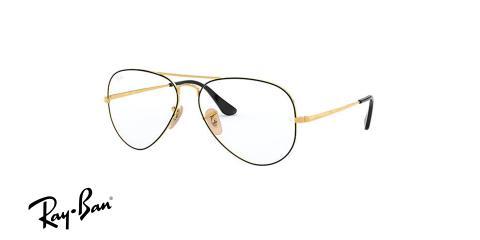 عینک طبی خلبانی ری بن - رنگ طلایی مشکی - زاویه سه رخ
