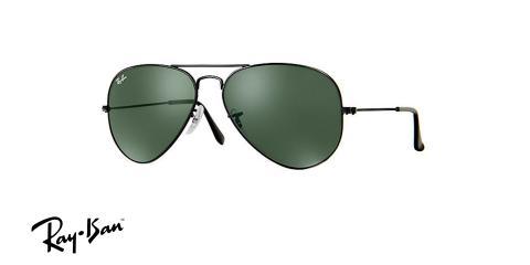 عینک آفتابی خلبانی ری بن - RAYBAN AVIATOR CLASSIC RB3026 - رنگ مشکی - عکاسی وحدت - عکس زاویه سه رخ