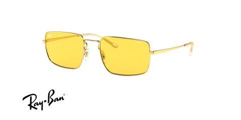 عینک آفتابی شیشه زرد ری بن - Ray ban RB3669 - عکس از زاویه سه رخ