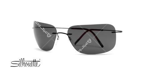 عینک آفتابی گریف سیلهوئت - بدنه مشکی - عدسی مشکی - عکاسی وحدت - زاویه سه رخ