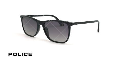 عینک آفتابی پولاریزه پلیس POLICE AXIOM3  SPL972 -فریم مشکی- عکاسی وحدت - زاویه سه رخ
