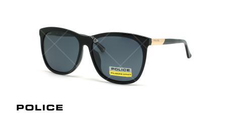 عینک آفتابی پولاریزه پلیس - POLICE SPL742G -مشکی - عکاسی وحدت - زاویه سه رخ