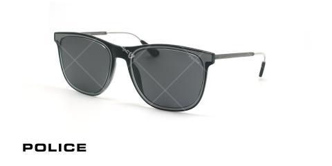 عینک آفتابی پلیس - POLICE SPL776 -فریم مشکی- عکاسی وحدت - زاویه سه رخ