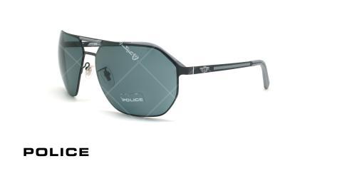 عینک آفتابی بیس دار پلیس - POLICE EDGE9 SPL968 - مشکی طوسی - عکاسی وحدت - زاویه سه رخ