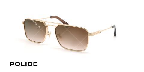 عینک آفتابی پلیس - POLICE SPLA23 -فریم مشکی- عکاسی وحدت - زاویه سه رخ
