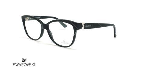 عینک طبی گربه ای سواروسکی - Swarovski EVA SW5116- مشکی - عکاسی وحدت - زاویه سه رخ