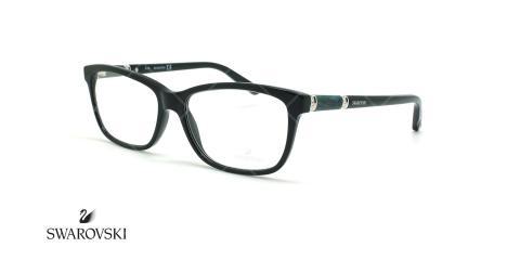 عینک طبی مستطیلی سواروسکی - Swarovski Elame SW5158- مشکی - عکاسی وحدت - زاویه سه رخ