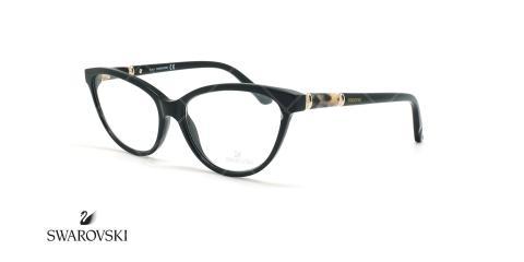 عینک طبی گربه ای سواروسکی - Swarovski Fawn SW5159 - مشکی - عکاسی وحدت - زاویه سه رخ