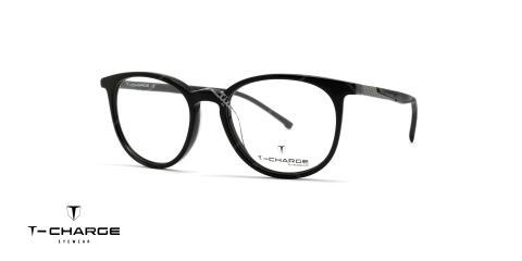 عینک طبی گرد تی شارژ T Charge t6055 - عکاسی وحدت - زاویه سه رخ