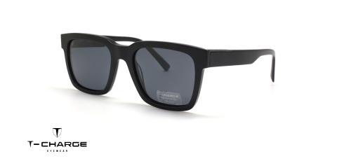 عینک آفتابی مربعی کائوچویی پولاریزه تی شارژ - زاویه سه رخ