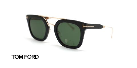 عینک آفتابی مربعی شکل دو پل تام فورد - زاویه سه رخ