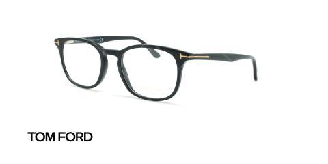 عینک طبی مربعی تام فورد - TOM FORD TF5505 - مشکی - عکاسی وحدت - زاویه سه رخ