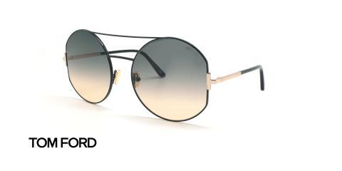 عینک آفتابی گرد تام فورد - عکاسی وحدت - زاویه سه رخ