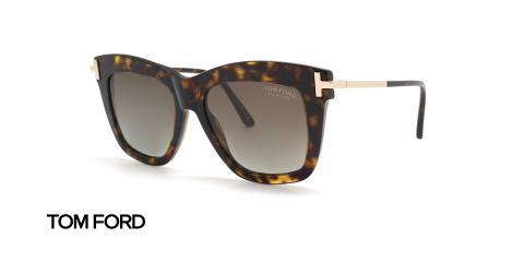 عینک آفتابی تام فورد زنانه پولاریزه - زاویه سه رخ