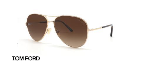 عینک آفتابی خلبانی تام فورد - عکاسی عینک وحدت - زاویه سه رخ