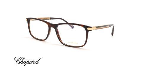عینک طبی کائوجویی دسته فیبر کربن چوبی شوپارد قهوه ای هاوانا - زاویه سه رخ