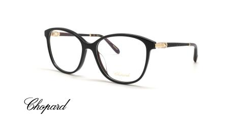 عینک طبی کائوچویی مشکی رنگ شوپارد - زاویه سه رخ