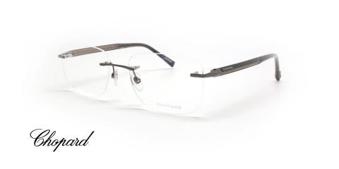عینک طبی گریف شوپارد با دسته کربن و چوب -  Chopard VCHC74 - عکاسی وحدت - عکس زاویه سه رخ