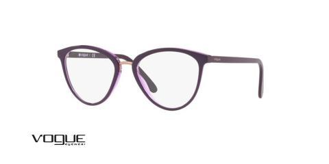 عینک طبی وگ -VO5259  2409 - رنگ بنفش - زاویه سه رخ
