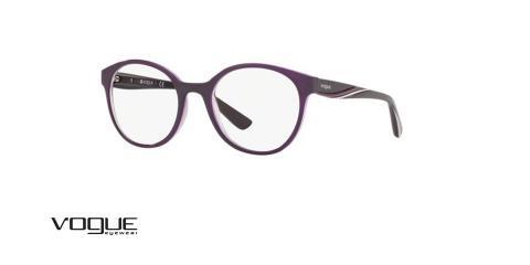عینک طبی vogue رنگ بنفش - زاویه سه رخ