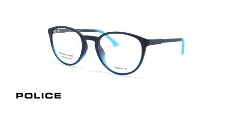 عینک طبی پلیس - POLICE VPL557 - رنگ فریم سورمه ای,  - اپتیک وحدت - عکس زاویه سه رخ