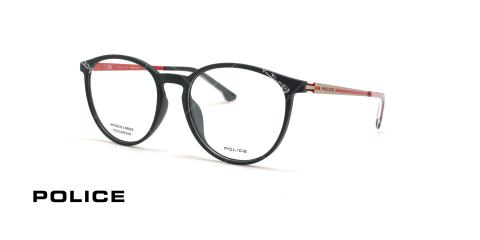 عینک طبی گرد پلیس - POLICE VPL800 LANE2-عکاسی وحدت - عکس زاویه سه رخ