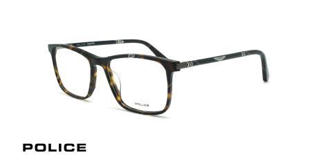 عینک طبی مستطیلی پلیس - POLICE VPL953 ORIGINS14- قهوه ای هاوانا - عکاسی وحدت - زاویه سه رخ