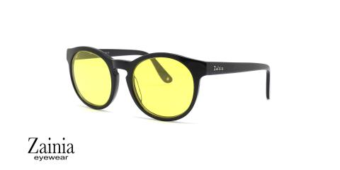 عینک آفتابی گرد رنگی زینیا -  Zainia Z8112s - شیشه زرد - عکس زاویه سه رخ