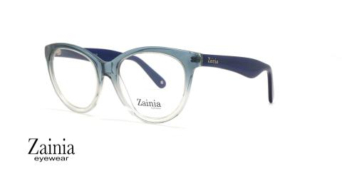 عینک طبی گربه ای آبی رنگ زینیا Z8125 005/GG - عکاسی وحدت - زاویه سه رخ