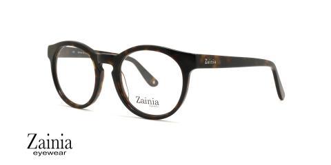عینک طبی گرد زینیا Z8112 003GB - عکاسی وحدت - زاویه سه رخ