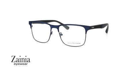 عینک طبی کائوچویی فلزی زینیا Z1130 C104 - عکاسی وحدت - زاویه سه رخ