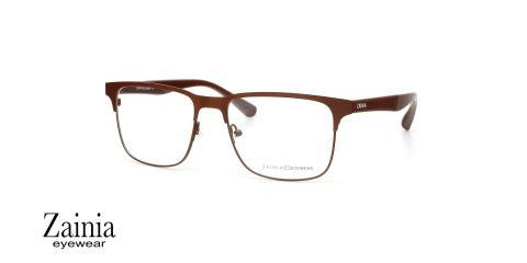 عینک طبی کائوچویی فلزی زینیا Z1130 C708 - عکاسی وحدت - زاویه سه رخ