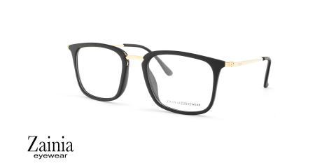 عینک طبی کائوچویی فلزی زینیا Z1144 C209 - عکاسی وحدت - زاویه سه رخ