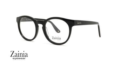 عینک طبی گرد زینیا Z8112 001GR - عکاسی وحدت - زاویه سه رخ