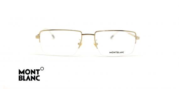 عینک طبی زیرگریف مون بلان - فلزی طلایی - عکاسی عینک وحدت - زاویه روبرو