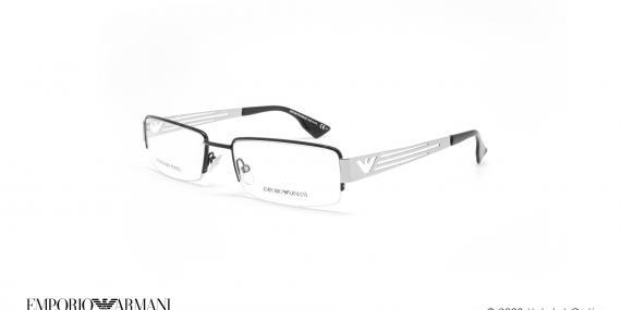 عینک طبی زیرگریف امپریو آرمانی - Emporio Armani EA9598 - مشکی سفید - عکاسی وحدت - زاویه سه رخ