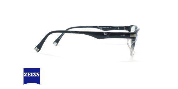 عینک طبی کائوچویی زایس ZEISS ZS10003 - مشکی سفید - عکاسی وحدت - زاویه کنار