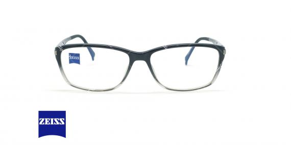 عینک طبی کائوچویی زایس ZEISS ZS10003 - مشکی سفید - عکاسی وحدت - زاویه روبرو