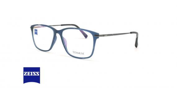 عینک طبی کائوچویی - تیتانیوم زایس ZEISS ZS10010 - سرمه ای - عکاسی وحدت - زاویه سه رخ