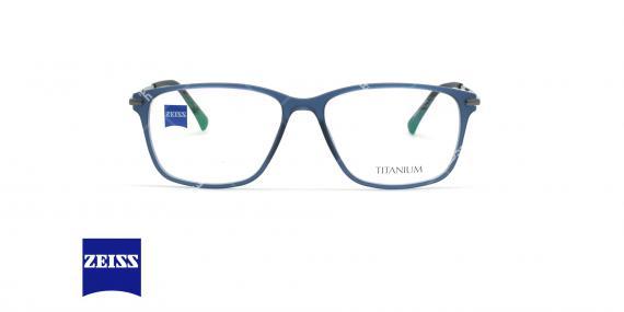 عینک طبی کائوچویی - تیتانیوم زایس ZEISS ZS10010 - سرمه ای - عکاسی وحدت - زاویه روبرو
