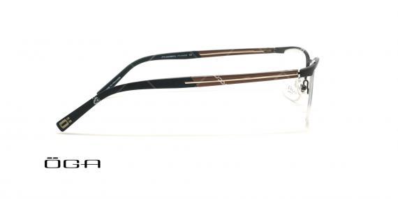 عینک طبی زیرگریف  اگا - OGA 10054O - مشکی قهوه ای - عکاسی وحدت - زاویه قبل