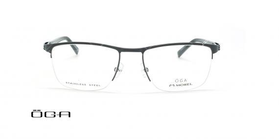 عینک طبی زیرگریف  اگا - OGA 10089O - مشکی - عکاسی وحدت - زاویه ربرو