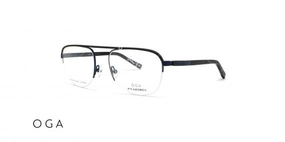 عینک طبی زیرگریف طرح خلبانی اگا - مشکی - عکاسی وحدت - زاویه سه رخ