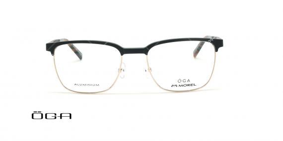 عینک طبی  اگا - OGA 10100O - مشکی طلایی - عکاسی وحدت - زاویه روبرو